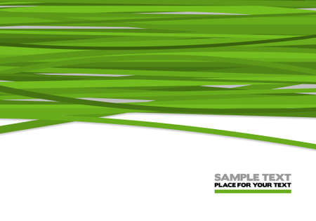 Green stripes, abstract background illustration