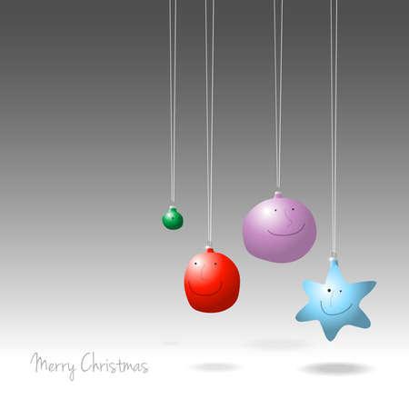 Christmas decorations, cartoon illustration Illustration