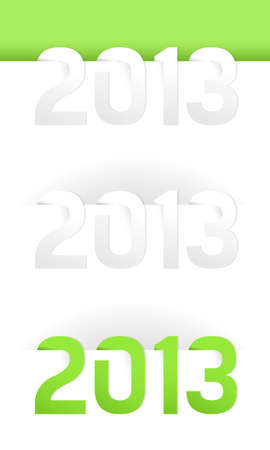 Happy New Year 2013, illustration on white Stock Vector - 16460546