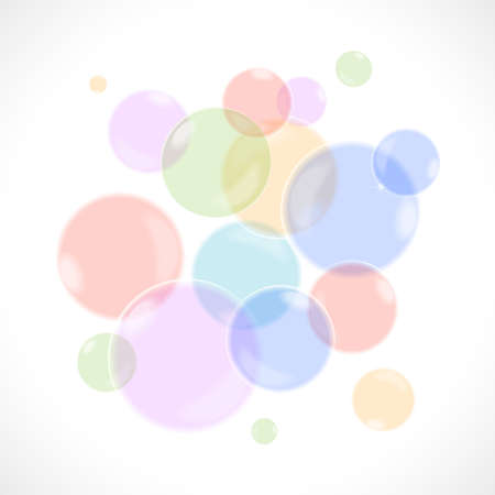 Rainbow bubbles, background illustration Stock Illustratie