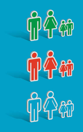 Family, symbol families with children Vector