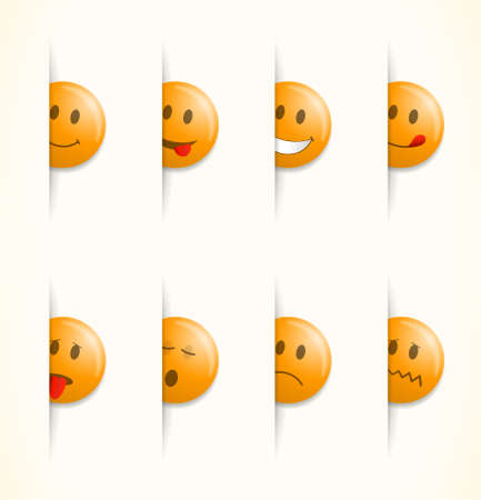 round face: Smilies, set of emoticons