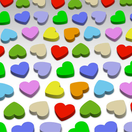 3D hearts, background illustration Stock Vector - 17170462