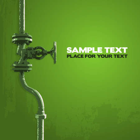 Old valve, illustration in shades of green Vector