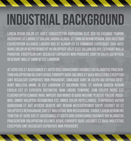 Industrial background with place for your text Stock Vector - 17609345
