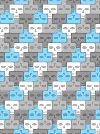 Skulls, infinite background Illustration