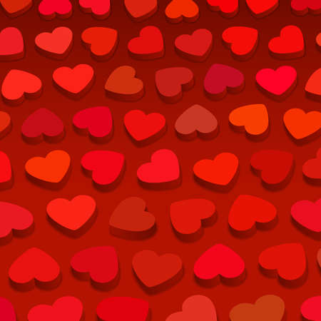 3D red hearts, background illustration