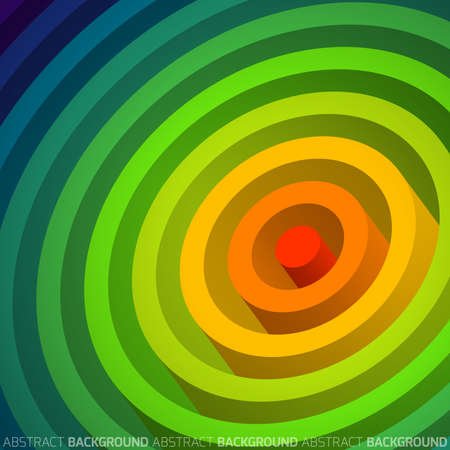 Rainbow circle, abstract geometric  background