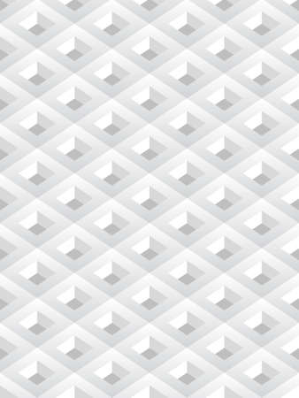 Repetitive geometric abstract background in white color, vector seamless background Vector