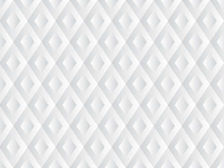 Repetitive geometric abstract background in white color, vector seamless background Illustration