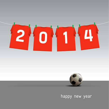 Soccer jerseys on the cord, wishes for the new year 2014