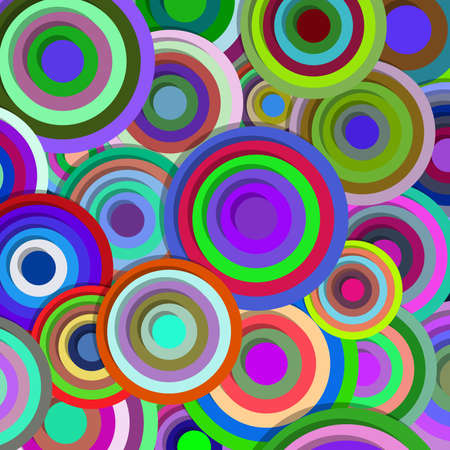Circles, colorful abstract vector background