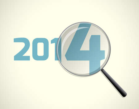 Magnifying glass, new 2014 focus, vector illustration