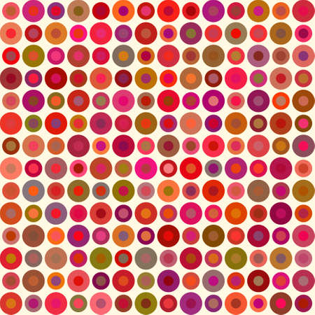 Abstract seamless background with circular pattern, red vector illustration Illustration