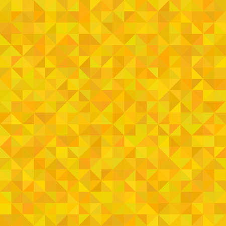 Abstract seamless background with golden triangles, vector illustration