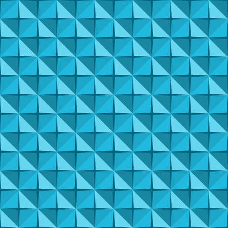 Abstract seamless background with blue 3D triangles, vector illustration Vector