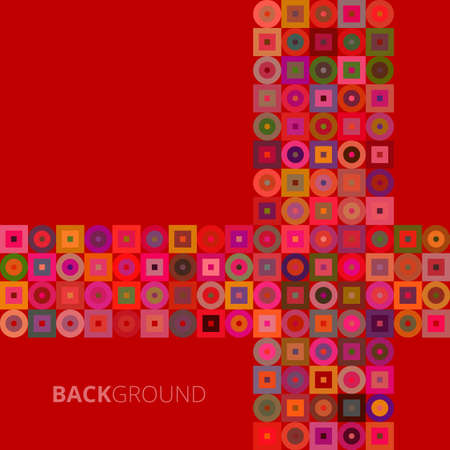 Abstract background in red geometric vector illustration