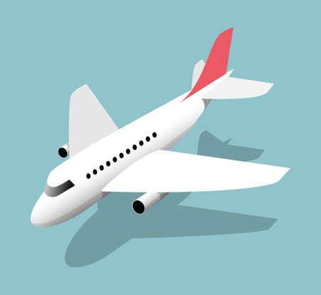 Airliner, vector illustration on a blue background Illustration