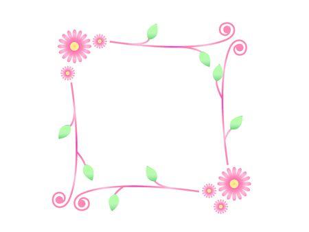 illustration of flower frame