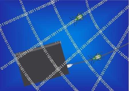 Computer security concept Stock Vector - 7023367
