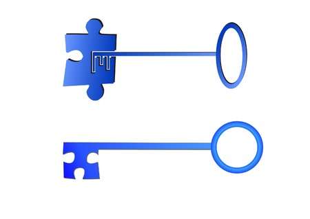 Key to puzzle concept Stock Vector - 7023249