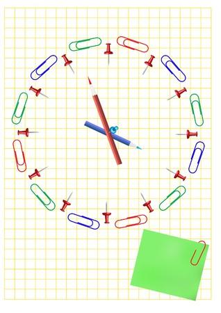 office clock: Concepto de reloj de Oficina