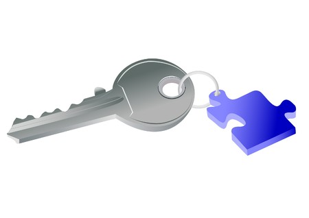 Key to puzzle concept Stock Vector - 7023251