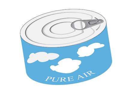 Pure air into can concept