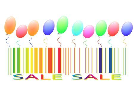 ean: Sale label isolated on white Illustration