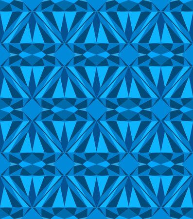 Blue diamond seamless pattern. Vector illustration. Stock Vector - 16219337
