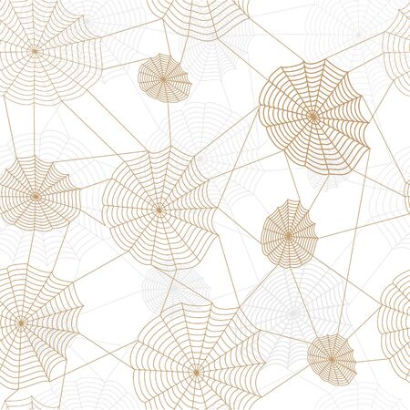 Spider retro web network. Vector seamless background. Vector