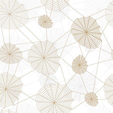 Spider retro web network. Vector seamless background. Stock Vector - 16219339