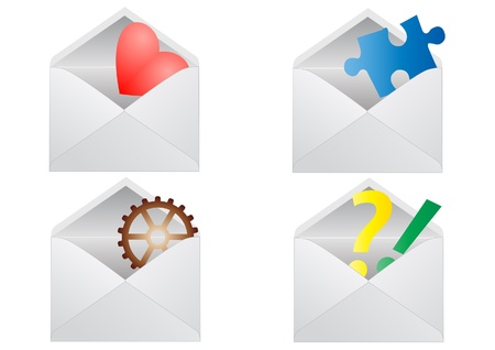 Signs in envelope. Vector Icons. Stock Vector - 16219340