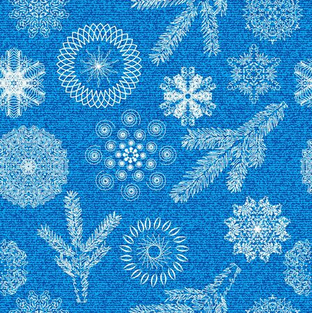Winter seamless background with nature elements. Vector Illustration. Stock Vector - 16219286