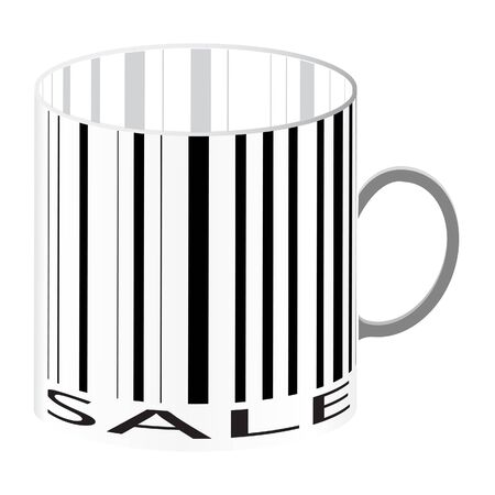 Barcode stylize as a cup  Illustration  Stock Vector - 16345343