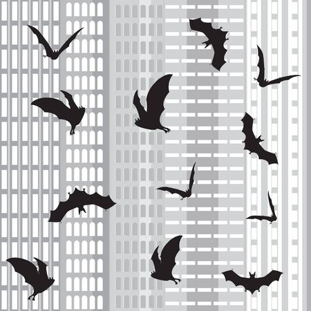 Halloween In The City  seamless background Vector