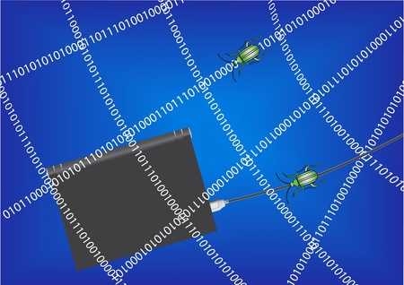 Computer security concept  Illustration  Stock Vector - 16345416