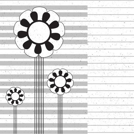 instrumental: Music flower background. Illustration. Illustration