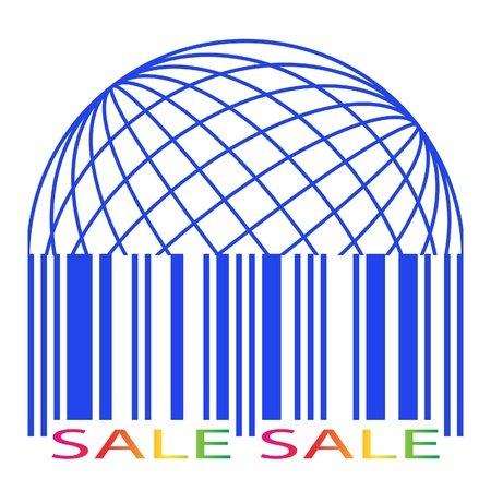 Sale label stylized as a barcode  icon  Vector