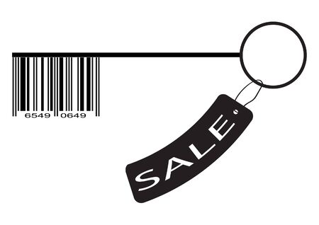Barcode as a key and sale label  Icon