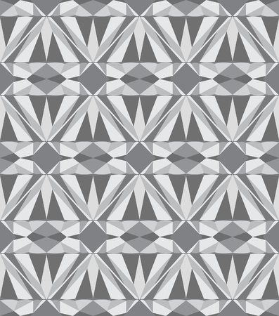 Diamond seamless pattern, gray version  Vector illustration