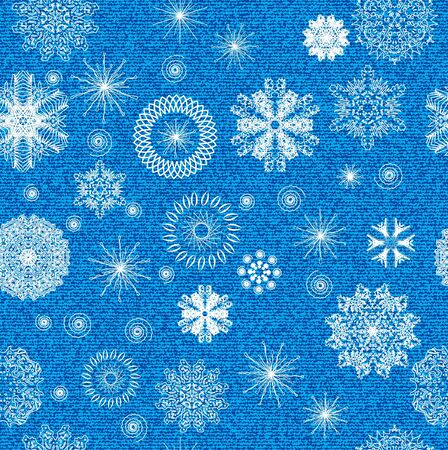 Winter seamless background with nature elements  Vector Illustration  Vector
