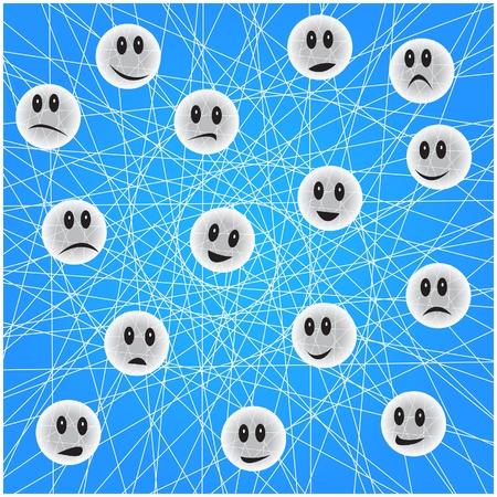Social network concept Stock Vector - 17986925