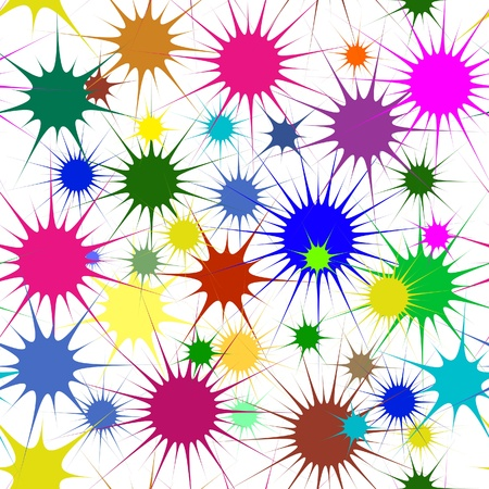 Abstract colorful stars, seamless background Stock Vector - 17986787