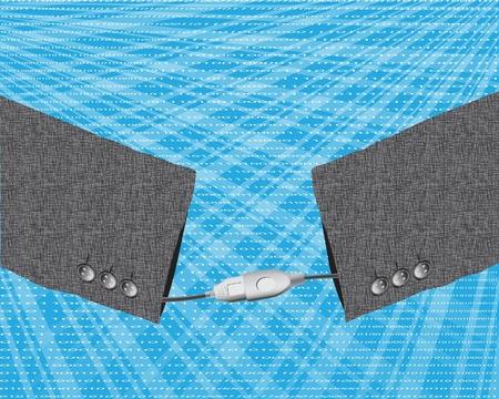 USB handshake concept Stock Vector - 17986830