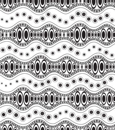 Ethnic doodle black and white seamless pattern Stock Vector - 17986927