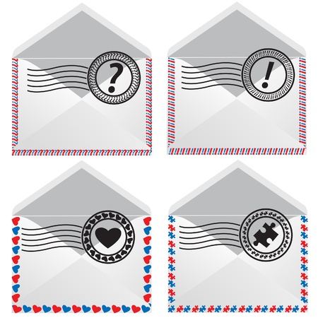 Signs in envelope. Vector Icons. Stock Vector - 17986800