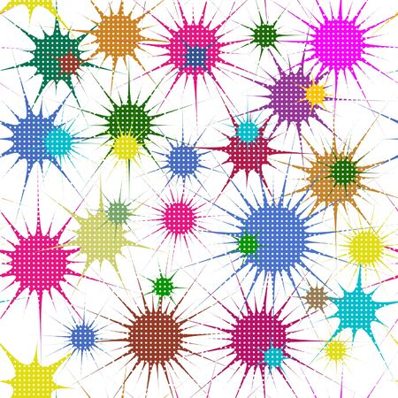 Abstract colorful stars, seamless background Stock Vector - 17986932
