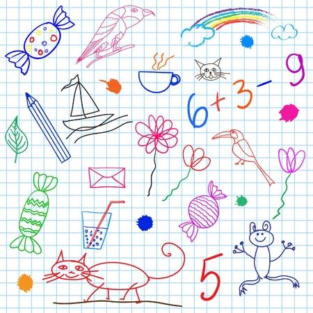 Children drawing Stock Vector - 17986945
