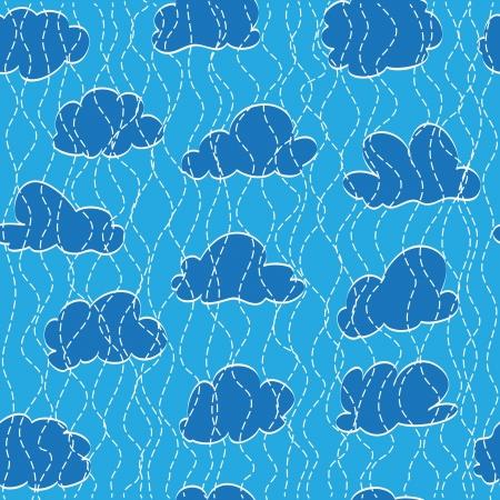 Sky, cloud and rain drop  Seamless background Stock Vector - 17986784